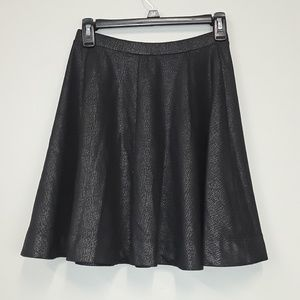 Express Skirts - Express fit and flare black metallic skirt